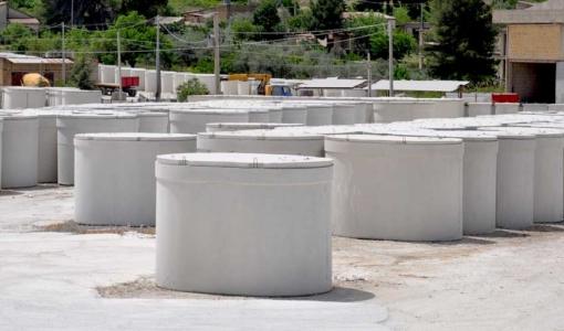 vasche in cemento prefabbricate